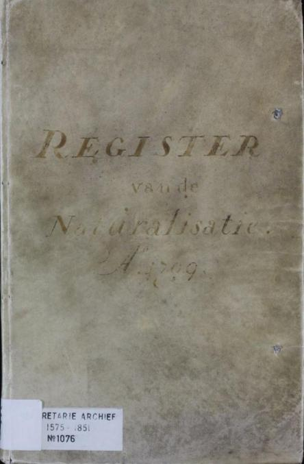Register van genaturaliseerde vluchtelingen in Leiden, 1709-1712